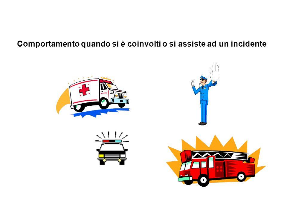 Comportamento quando si è coinvolti o si assiste ad un incidente