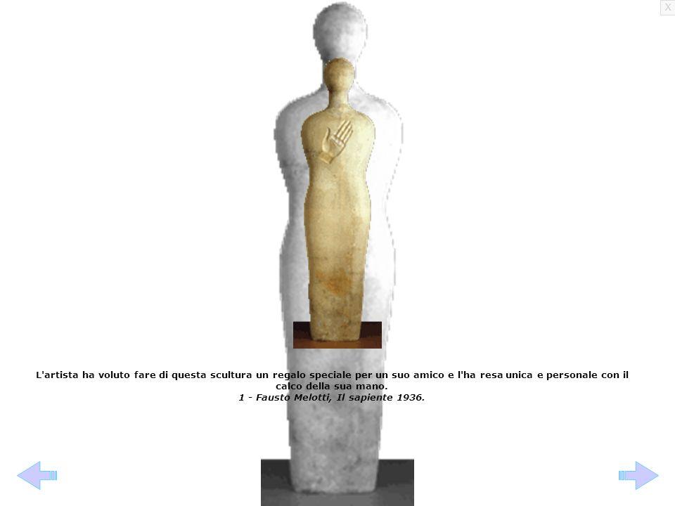 X L'artista ha voluto fare di questa scultura un regalo speciale per un suo amico e l'ha resa unica e personale con il calco della sua mano. 1 - Faust