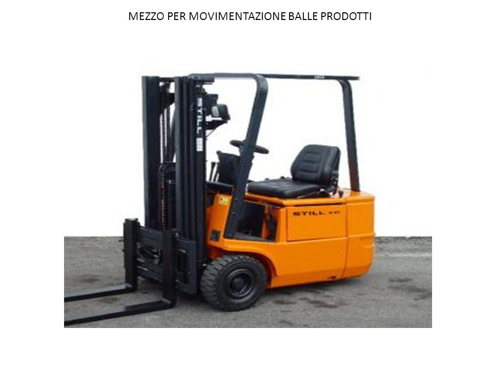 MEZZO PER MOVIMENTAZIONE BALLE PRODOTTI