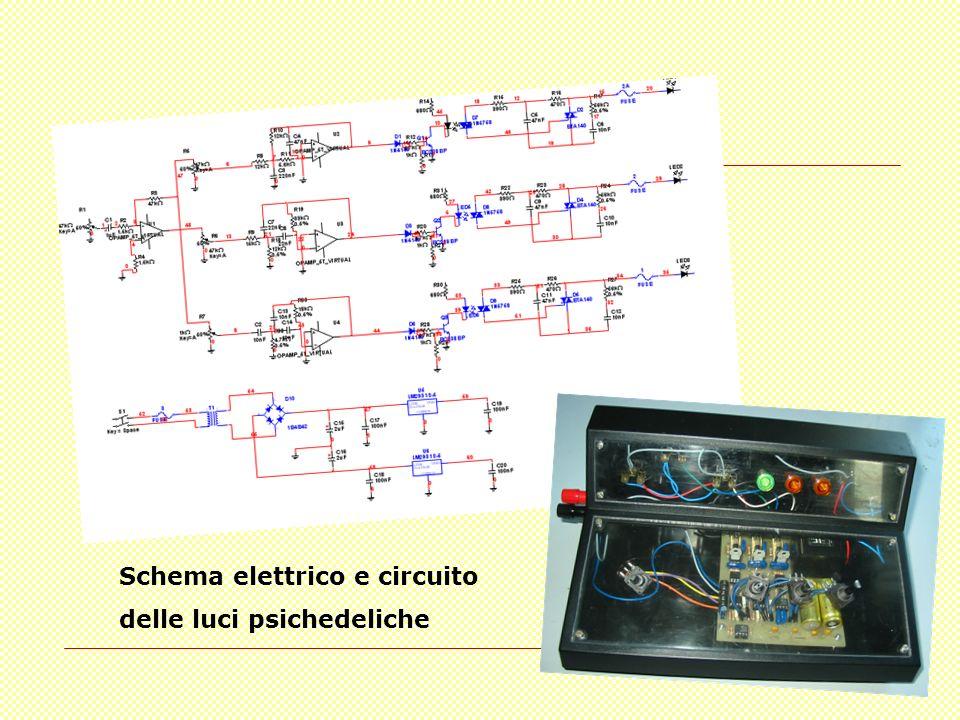 Schema elettrico e circuito delle luci psichedeliche