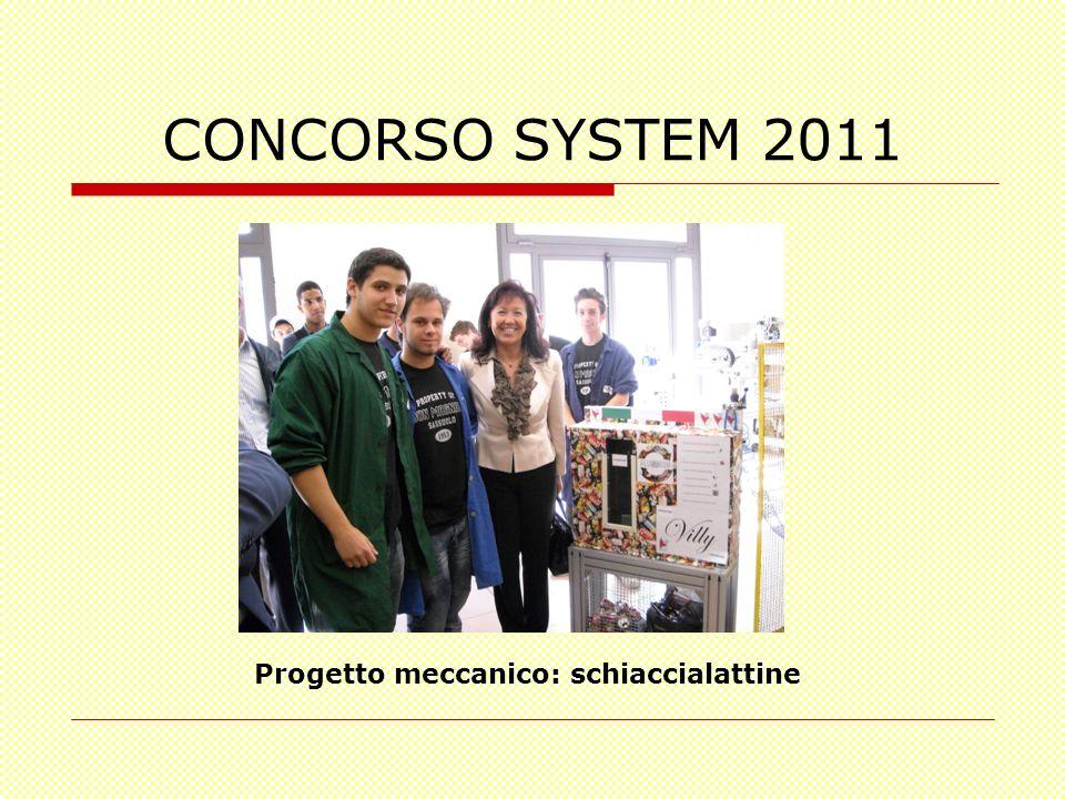 CONCORSO SYSTEM 2011 Progetto meccanico: schiaccialattine