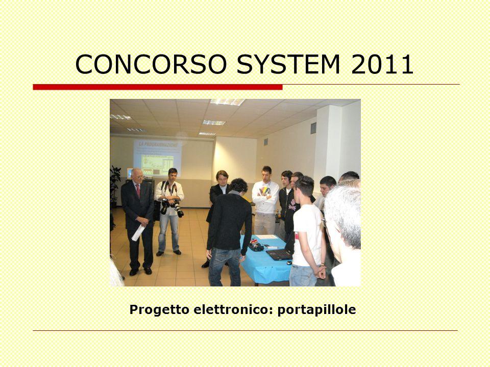 CONCORSO SYSTEM 2011 Progetto elettronico: portapillole