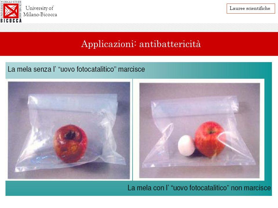 University of Milano-Bicocca Lauree scientifiche Applicazioni: antibattericità