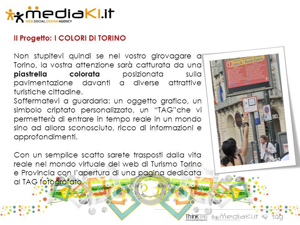 Il Progetto: I COLORI DI TORINO Non stupitevi quindi se nel vostro girovagare a Torino, la vostra attenzione sarà catturata da una piastrella colorata posizionata sulla pavimentazione davanti a diverse attrattive turistiche cittadine.