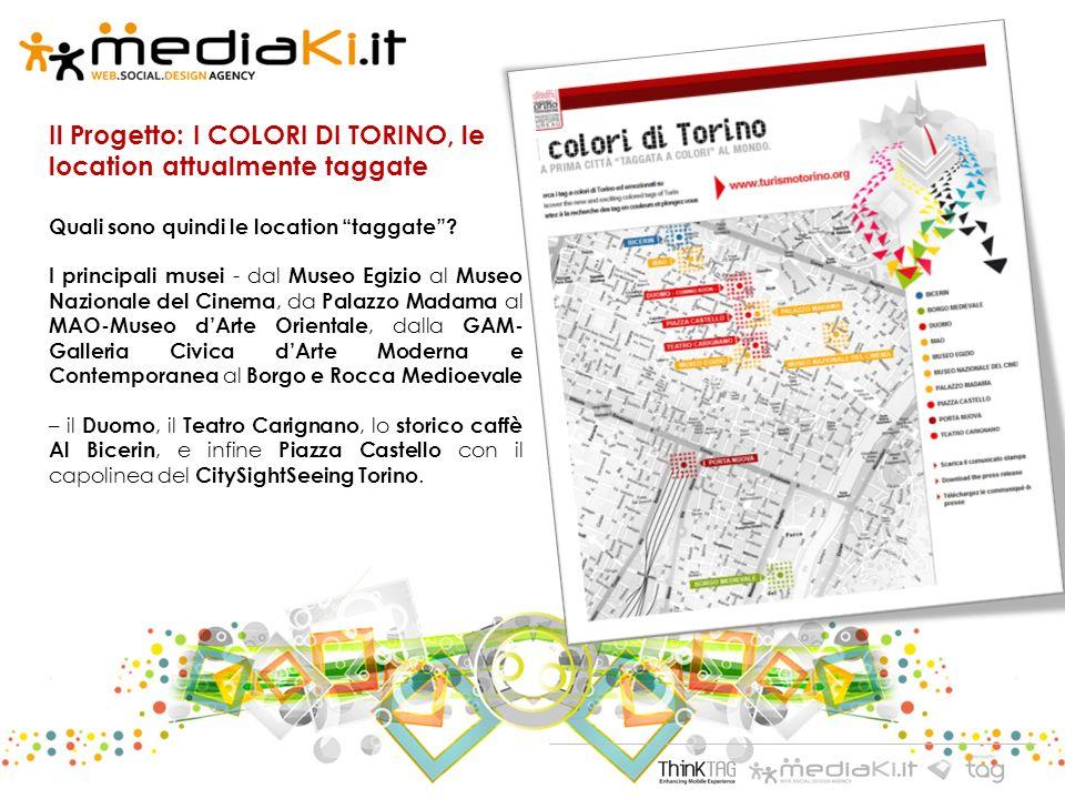 Il Progetto: I COLORI DI TORINO, le location attualmente taggate Quali sono quindi le location taggate.