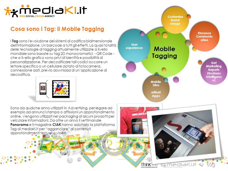 Cosa sono i Tag: il Mobile Tagging I Tag sono l evoluzione dei sistemi di codifica bidimensionale dell informazione.