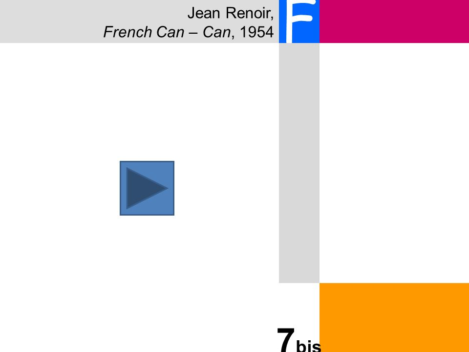 Jean Renoir, French Can – Can, 1954 F 7 bis