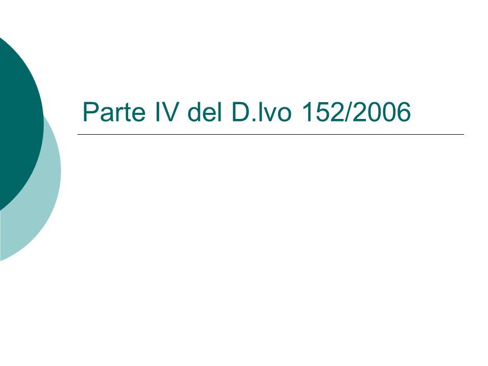Parte IV del D.lvo 152/2006