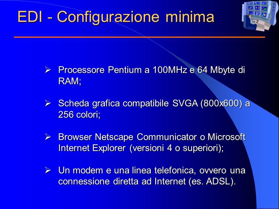 Processore Pentium a 100MHz e 64 Mbyte di RAM; Processore Pentium a 100MHz e 64 Mbyte di RAM; Scheda grafica compatibile SVGA (800x600) a 256 colori;