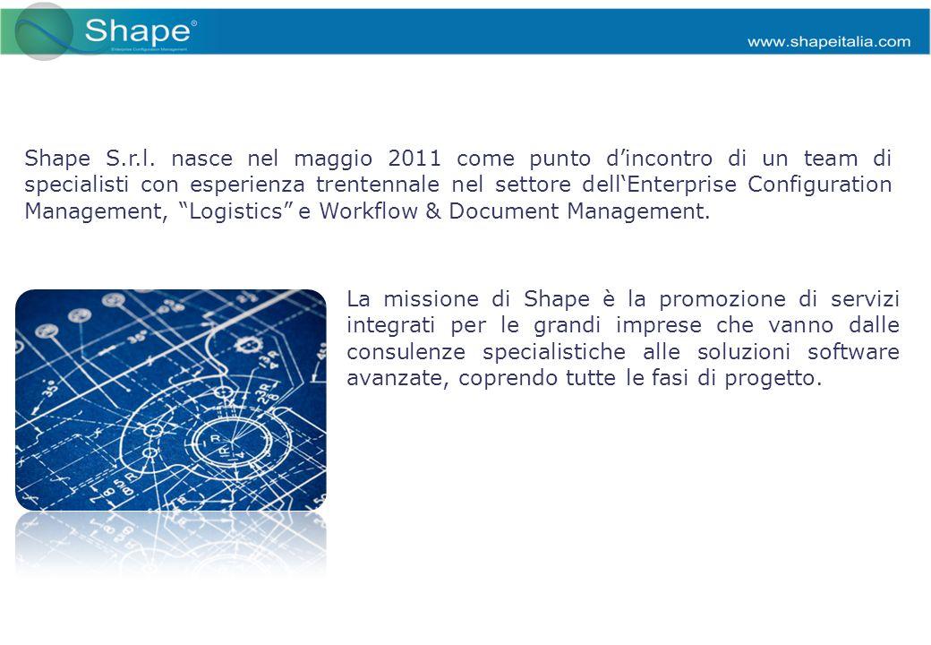 La missione di Shape è la promozione di servizi integrati per le grandi imprese che vanno dalle consulenze specialistiche alle soluzioni software avanzate, coprendo tutte le fasi di progetto.