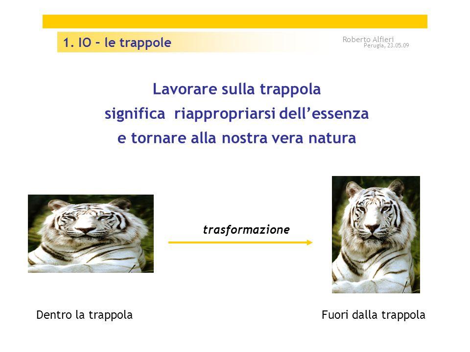 Lavorare sulla trappola significa riappropriarsi dellessenza e tornare alla nostra vera natura Dentro la trappolaFuori dalla trappola trasformazione 1