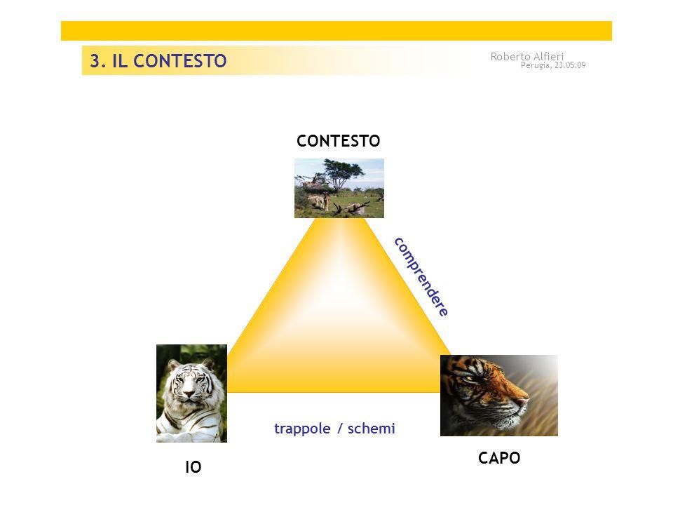 CAPO A A IO CONTESTO trappole / schemi comprendere 3. IL CONTESTO Roberto Alfieri Perugia, 23.05.09