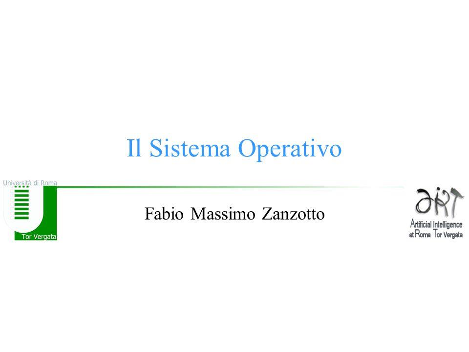 © F.M.Zanzotto Cosa controlla: Gestione Risorse Un Sistema Operativo gestisce in genere un sistema le cui risorse essenziali sono: –Uno o più Processori –Memoria –Dispositivi di Memorizzazione di Massa –Dispositivi di I/O –Dati