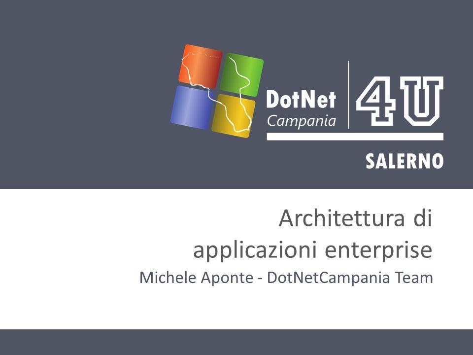 Architettura di applicazioni enterprise Michele Aponte - DotNetCampania Team