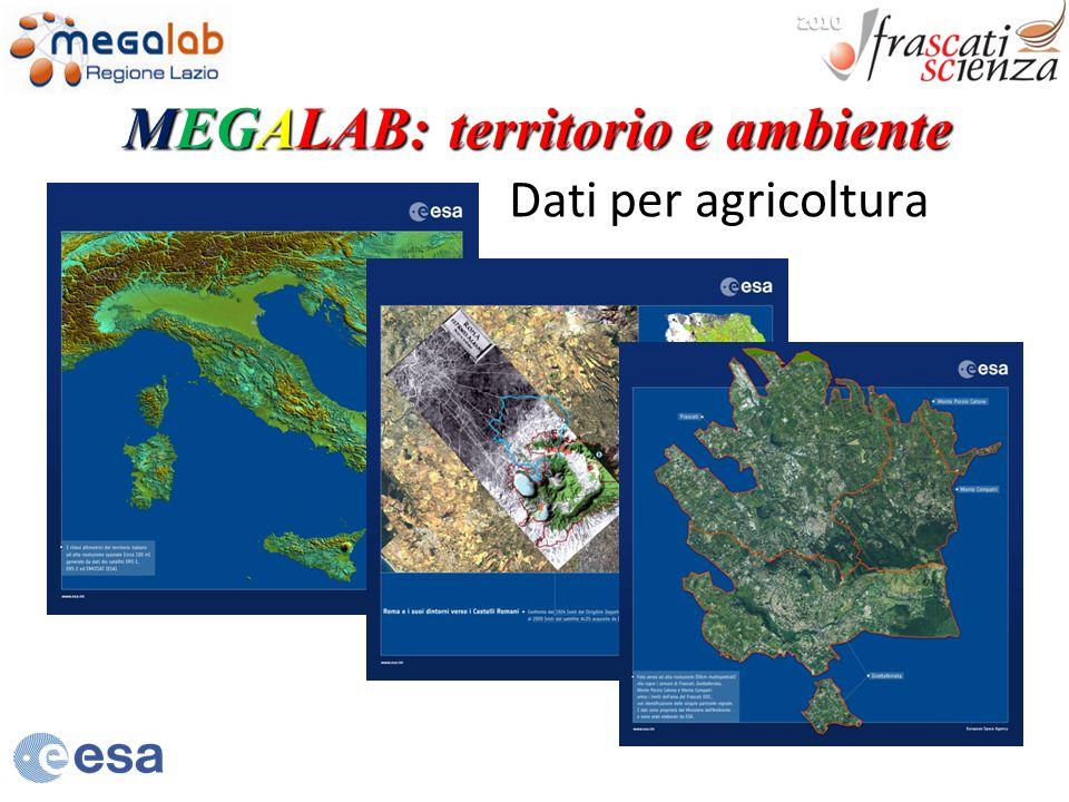 Dati per agricoltura MEGALAB: territorio e ambiente