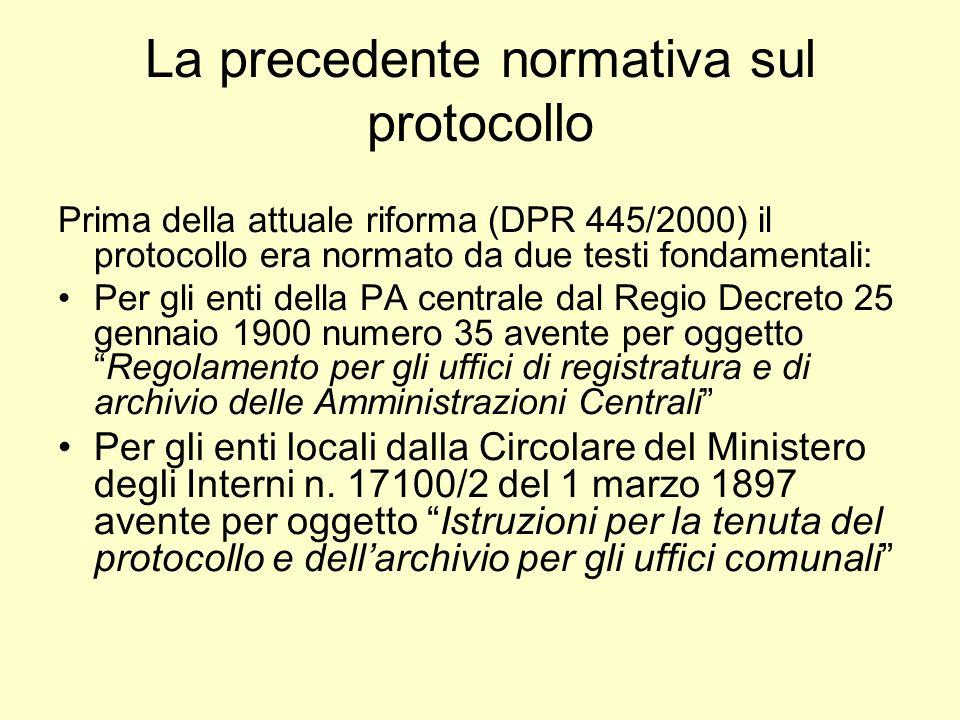 Ciclo di vita del documento 1.Documenti in entrata 2.Sistema di Gestione interna dei documenti 3.Sistema di archiviazione e conservazione 4.Documenti in uscita