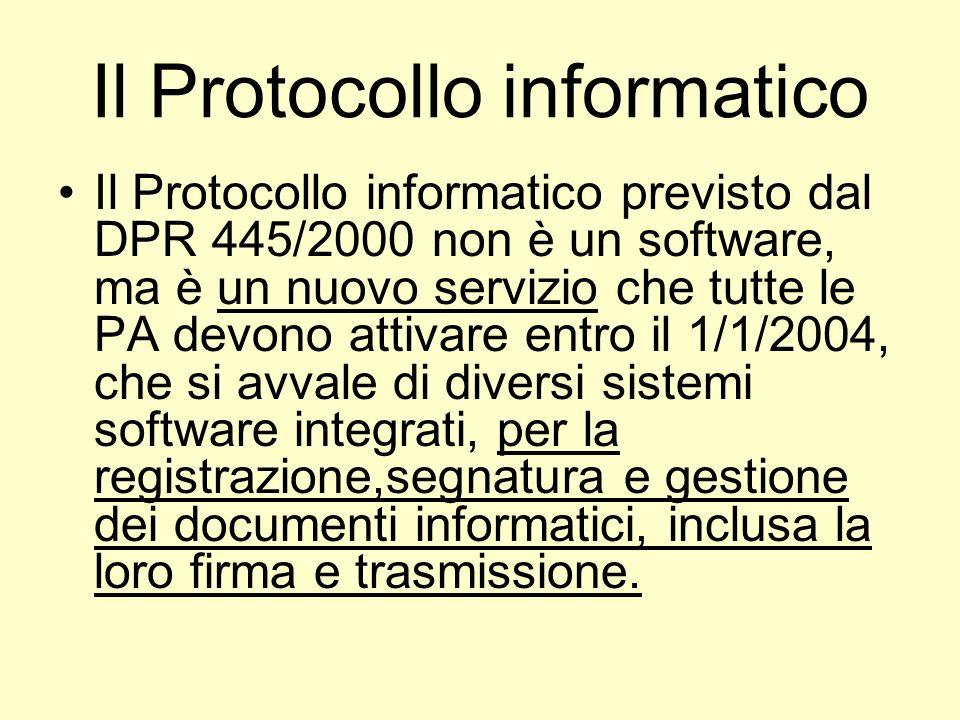 1 – Documenti in entrata Dopo lattivazione del protocollo informatico i documenti in entrata potranno essere: 1.Cartacei 2.Informatici (con firma digitale o elettronica)