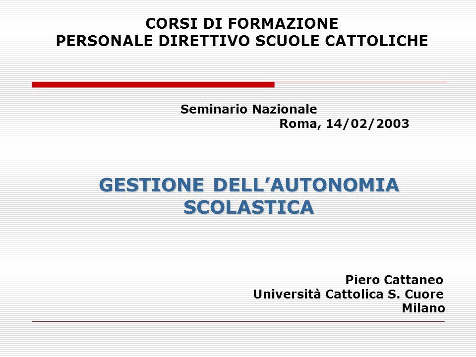 Nuovo Modello di Governo del sistema di istruzione italiano al centro cè lAUTONOMIA SCOLASTICA che attraverso le operazioni di Dimensionamento (1998-99) il regolamento dellautonomia (DPR n.
