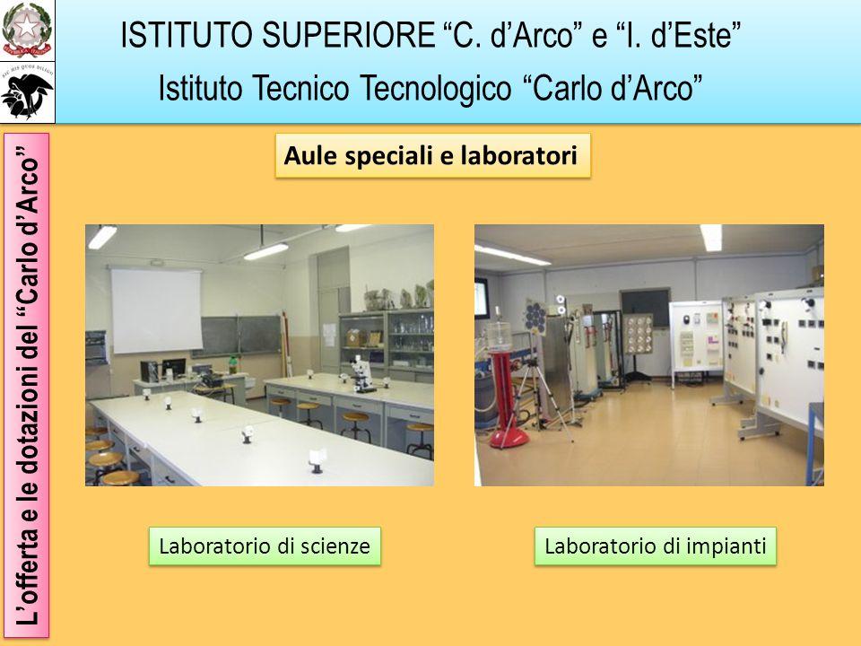 ISTITUTO SUPERIORE C. dArco e I. dEste Istituto Tecnico Tecnologico Carlo dArco Lofferta e le dotazioni del Carlo dArco Aule speciali e laboratori Lab