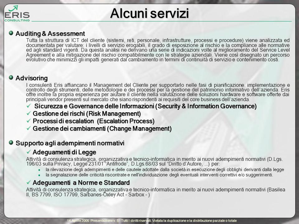 14 Aprile 2005 Presentazione v. 5 - Tutti I diritti riservati.