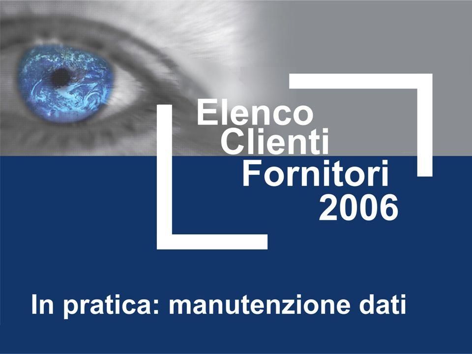 Estrazione e caricamento dati Dati Comunicazione Elenchi Clienti/Fornitori/1 Come visto precedentemente è possibile estrarre i dati dalla Primanota contabile ed Iva di adhoc.