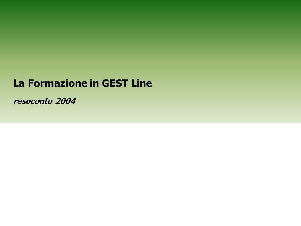 Risorse Umane Gestione e Sviluppo Risorse 1 La Formazione in GEST Line resoconto 2004
