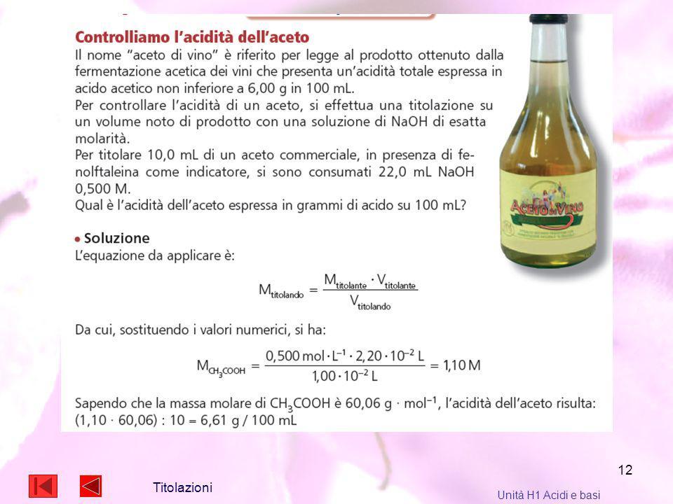12 Titolazioni Unità H1 Acidi e basi
