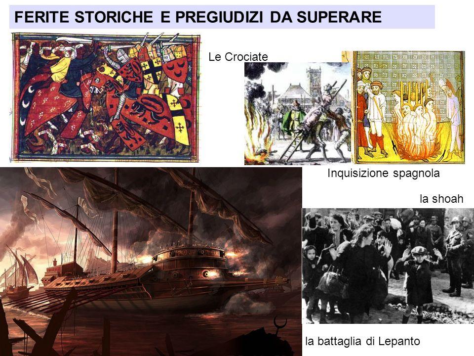 FERITE STORICHE E PREGIUDIZI DA SUPERARE Le Crociate la battaglia di Lepanto Inquisizione spagnola la shoah
