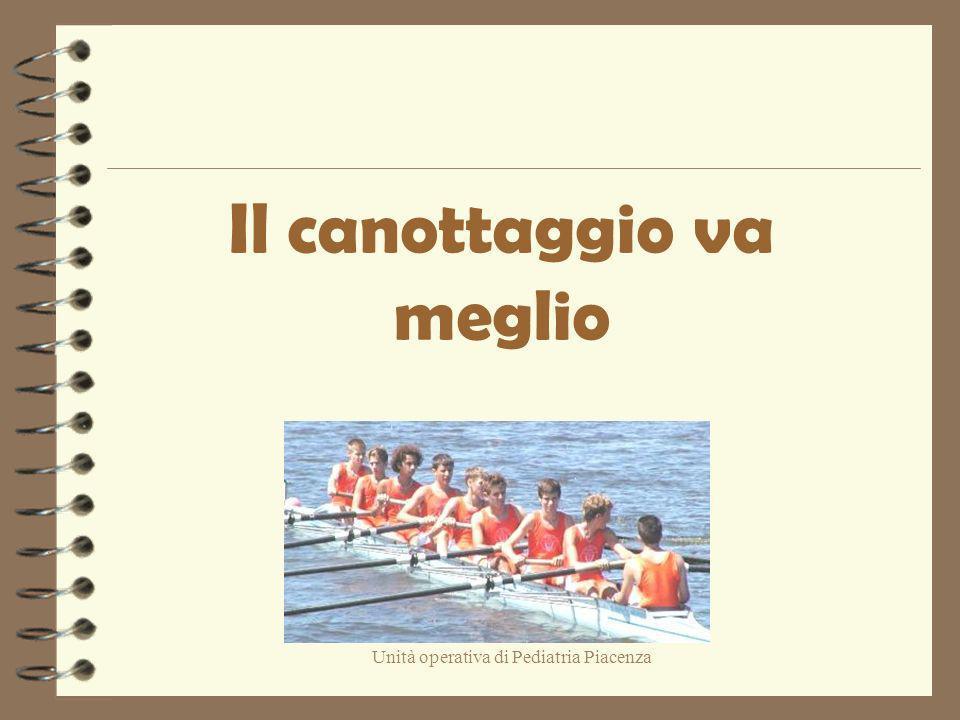 Unità operativa di Pediatria Piacenza Il canottaggio va meglio