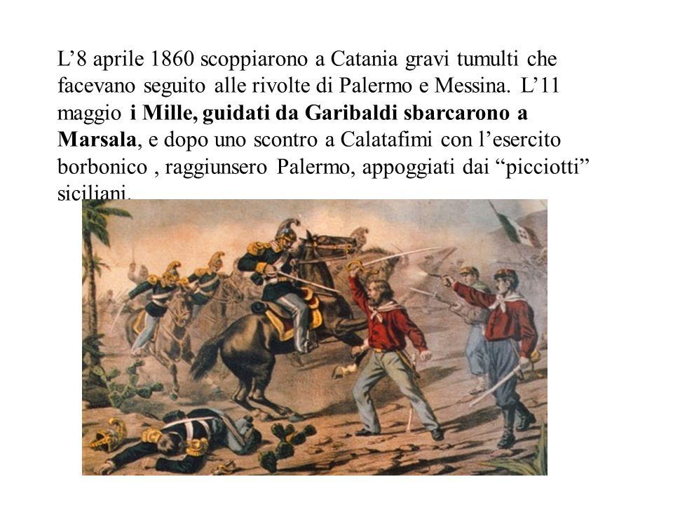 Nel meridione dItalia il malcontento era dilagante. Democratici come Francesco Crispi e Rosolino Pilo, che avevano partecipato alla II Guerra dIndipen