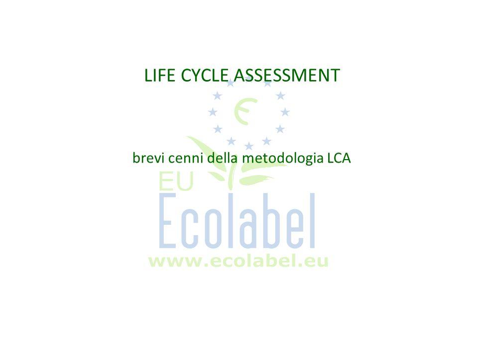 La metodologia LCA Life-cycle assessment (LCA) è un metodo che consente di misurare analizzare e comporre sullarco di un intero ciclo di vita dal punto di vista ambientale il consumo di energia e materie prime, differenti tipologie di emissioni e altri importanti fattori ambientali correlati a uno specifico prodotto, processo o servizio LCA costituisce in sintesi un procedimento di tipo ingegneristico per la valutazione cradle to grave degli impatti su un ecosistema strumento per analizzare le implicazioni ambientali di un prodotto lungo tutte le fasi del suo ciclo di vita, ossia lestrazione delle materie prime, la lavorazione dei materiali, lassemblaggio del prodotto, luso e lo scenario di fine vita