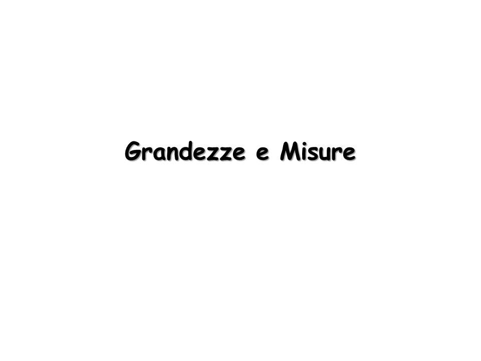 Grandezze e Misure
