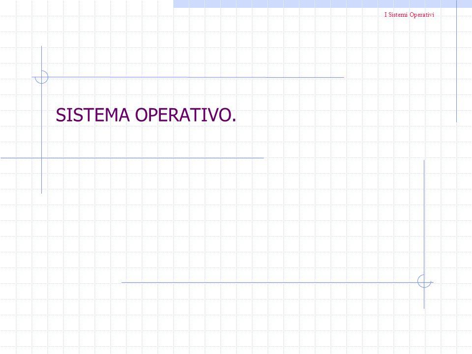 I Sistemi Operativi SISTEMA OPERATIVO.