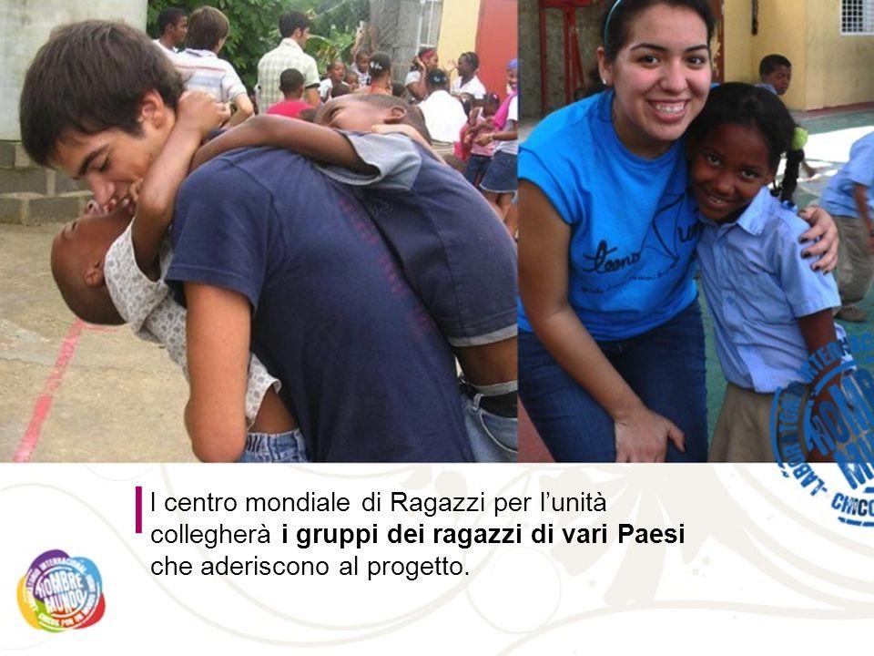 l centro mondiale di Ragazzi per lunità collegherà i gruppi dei ragazzi di vari Paesi che aderiscono al progetto.