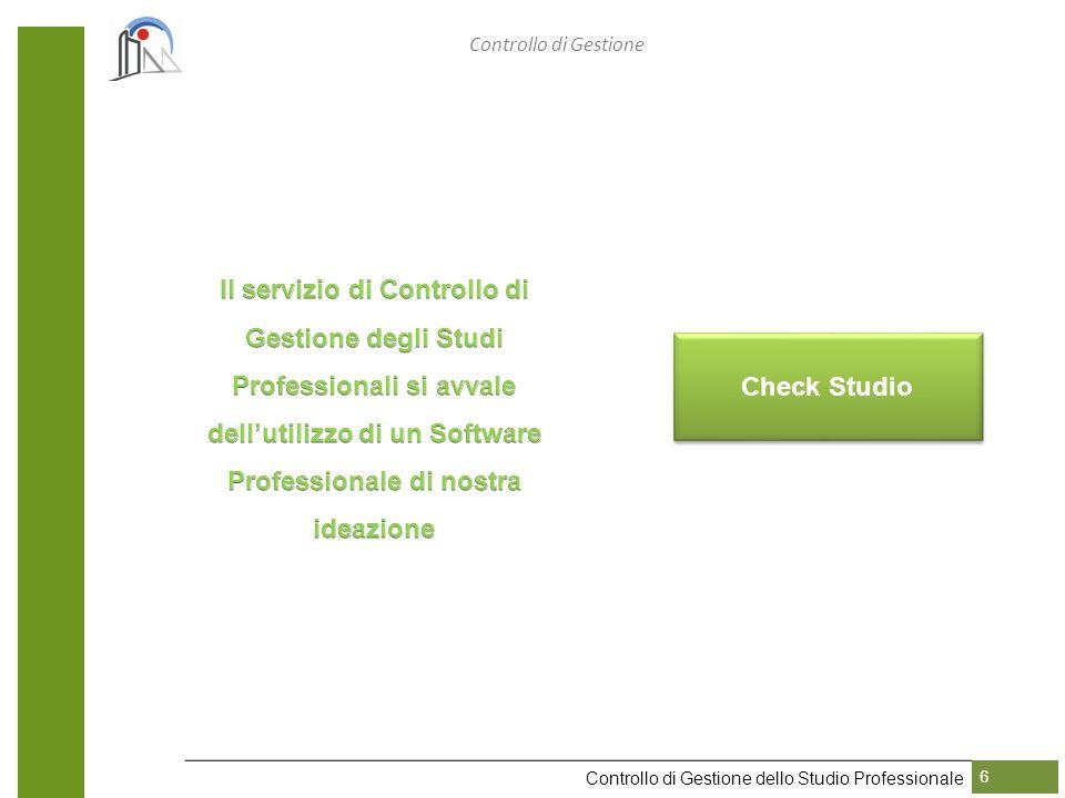 Check Studio Controllo di Gestione dello Studio Professionale 6 Controllo di Gestione