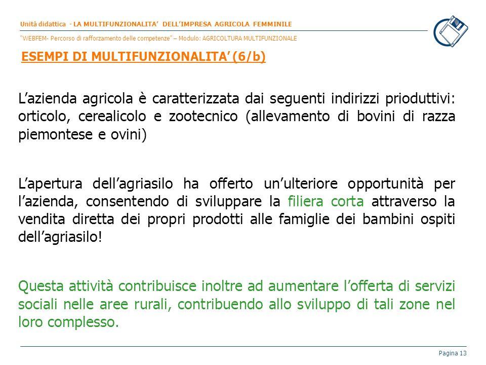 Pagina 13 Lazienda agricola è caratterizzata dai seguenti indirizzi prioduttivi: orticolo, cerealicolo e zootecnico (allevamento di bovini di razza pi