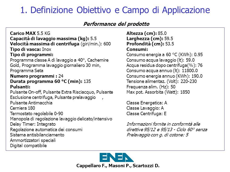 Cappellaro F., Masoni P., Scartozzi D.2. LCI - Analisi dinventario 1.