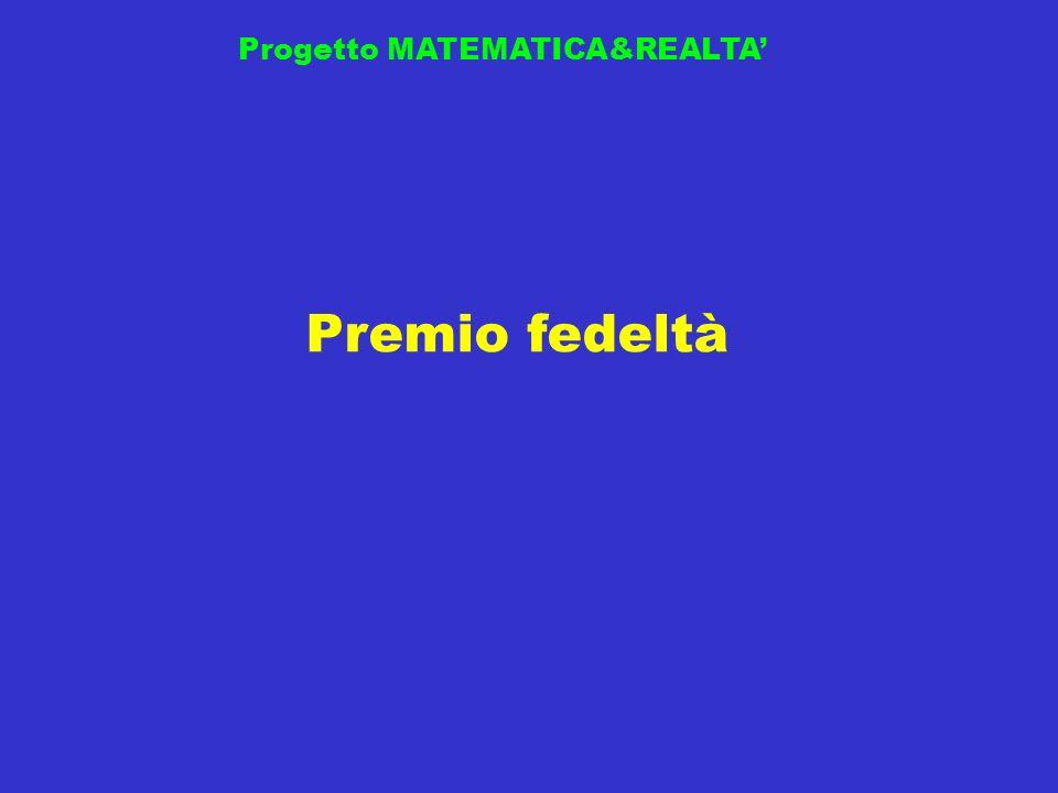 Premio fedeltà Progetto MATEMATICA&REALTA