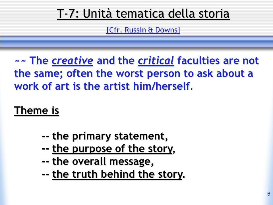 7 T-7: Unità tematica della storia [Cfr.