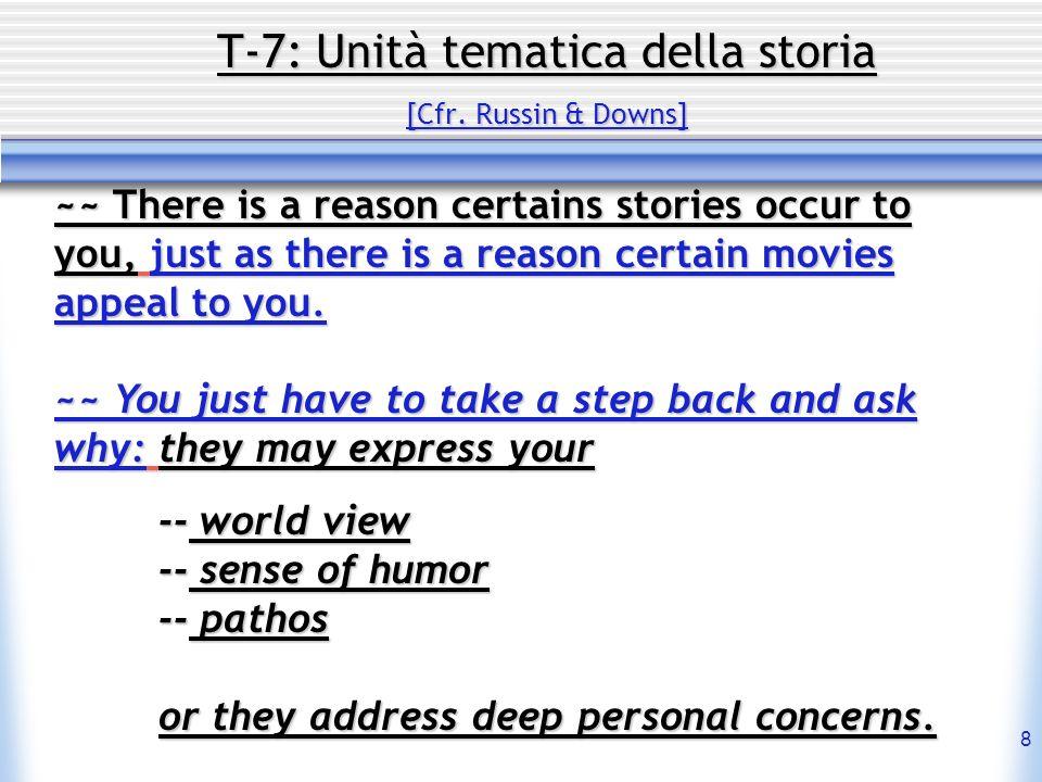19 T-7: Unità tematica della storia Contenuto : I radicali della sociabilità ~~ 9.