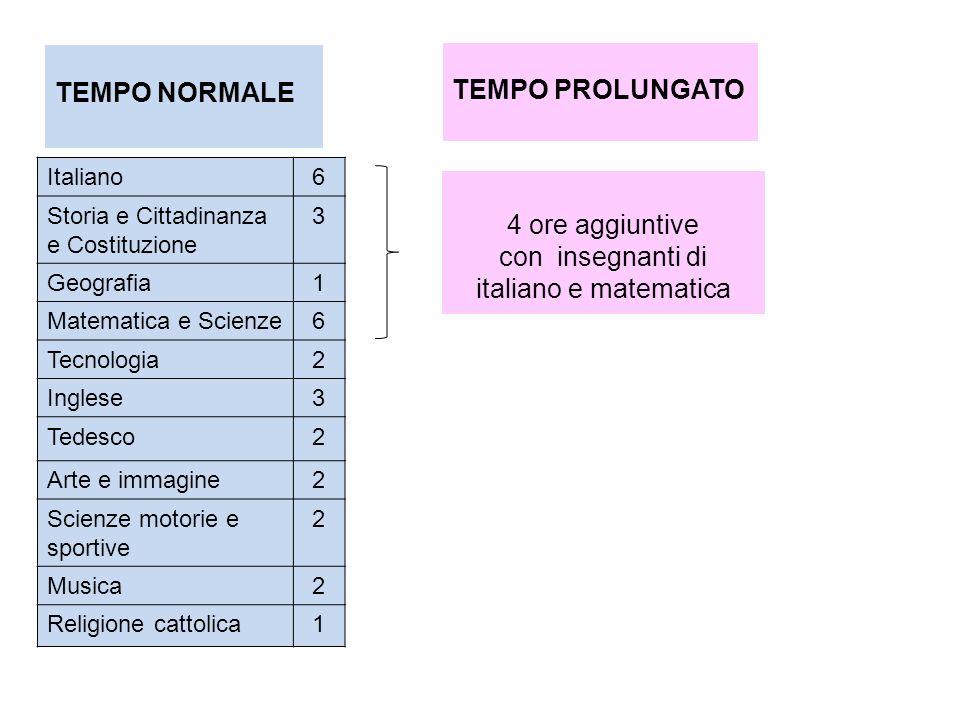 Italiano6 Storia e Cittadinanza e Costituzione 3 Geografia1 Matematica e Scienze6 Tecnologia2 Inglese3 Tedesco2 Arte e immagine2 Scienze motorie e spo