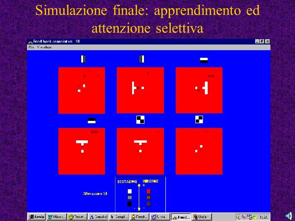 Simulazione finale: apprendimento ed attenzione selettiva