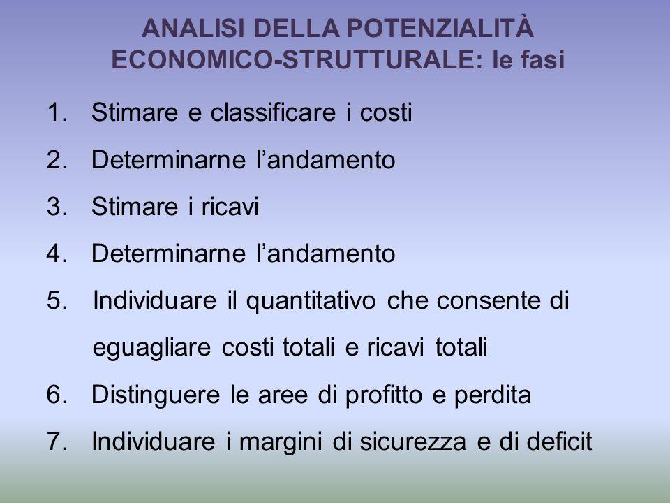 ANALISI DELLA POTENZIALITÀ ECONOMICO-STRUTTURALE: le fasi 1.