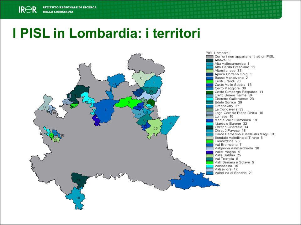 I PISL in Lombardia: i territori