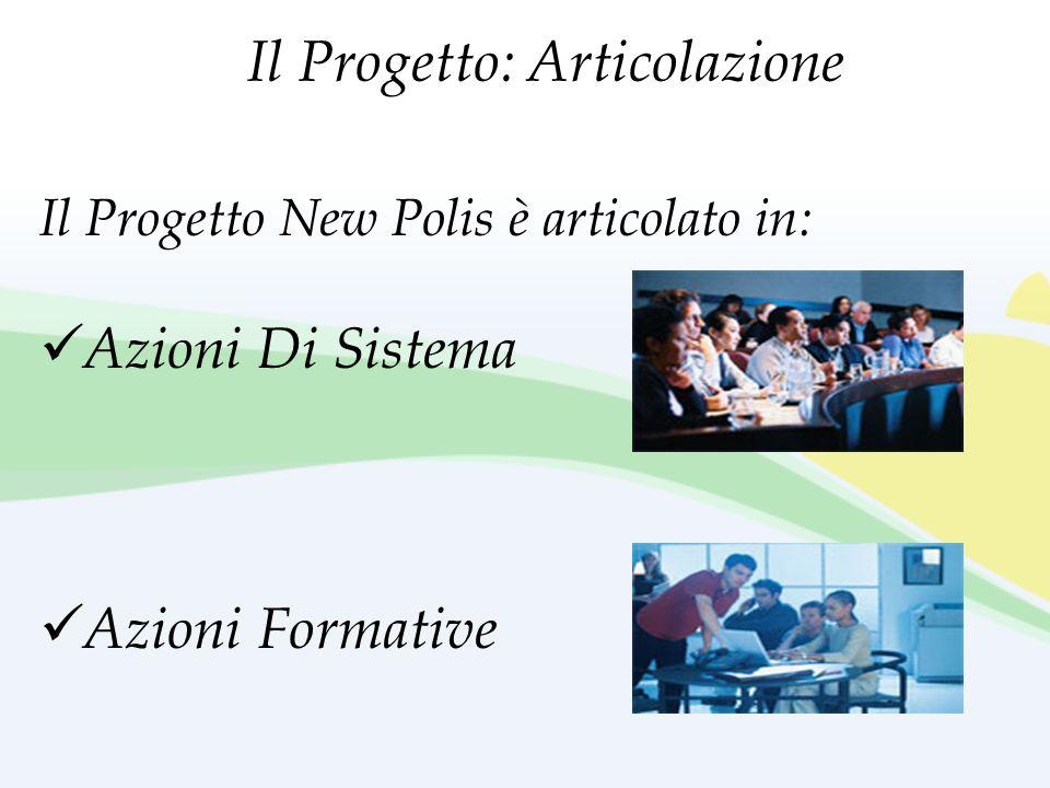 Il Progetto New Polis è articolato in: Azioni Di Sistema Azioni Formative Il Progetto: Articolazione