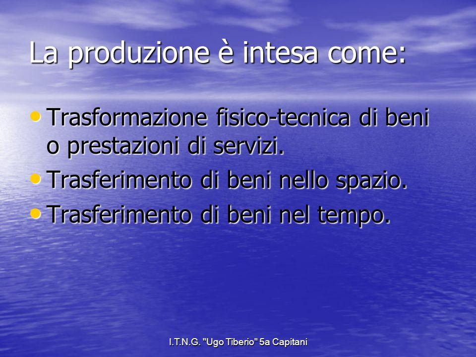I.T.N.G. Ugo Tiberio 5a Capitani Caratteristiche delle aziende di servizi.