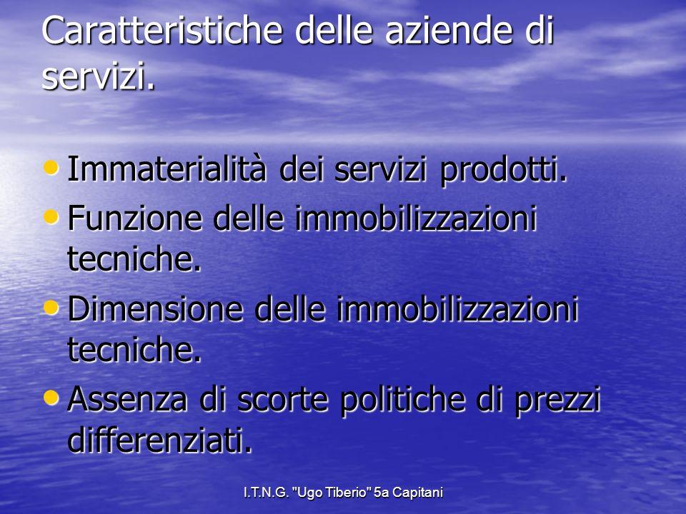 I.T.N.G. Ugo Tiberio 5a Capitani Il costo di produzione e le sue classificazioni.