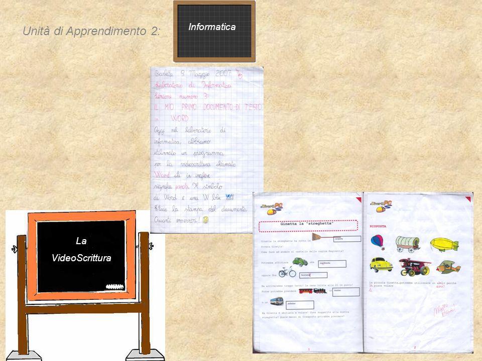 Informatica La VideoScrittura Unità di Apprendimento 2: