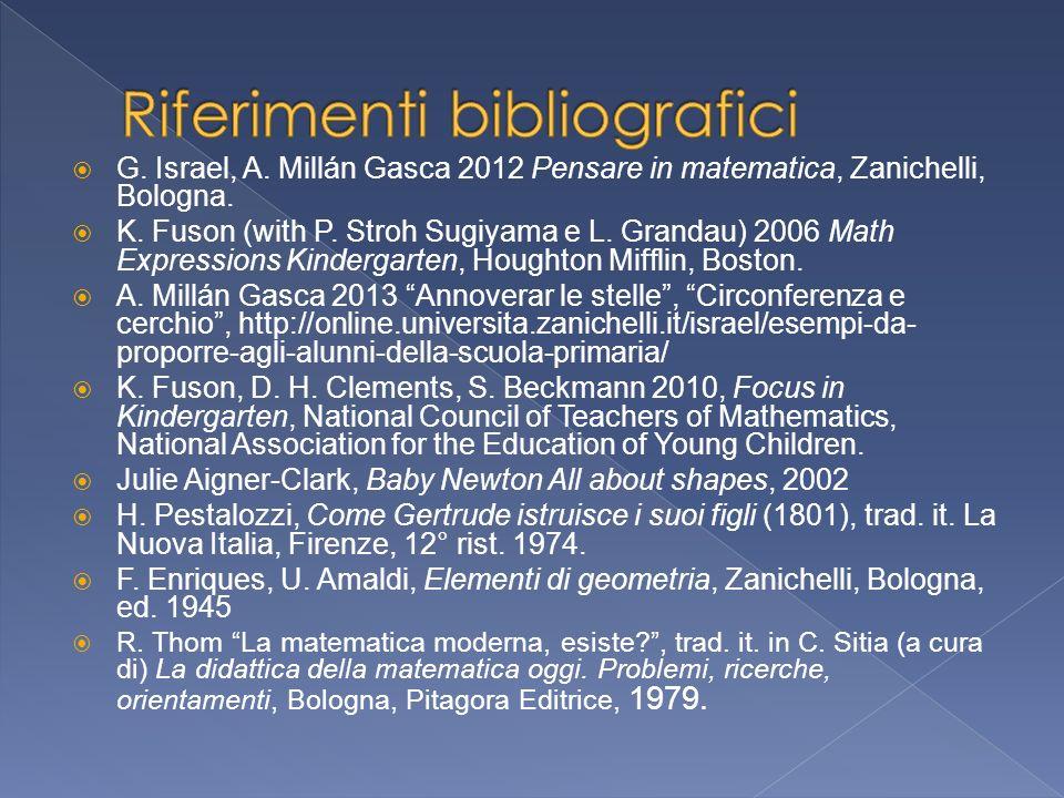 G.Israel, A. Millán Gasca 2012 Pensare in matematica, Zanichelli, Bologna.