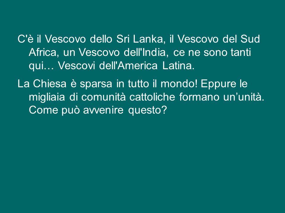 Ma se guardiamo alla Chiesa Cattolica nel mondo scopriamo che essa comprende quasi 3.000 diocesi sparse in tutti i Continenti: tante lingue, tante culture.